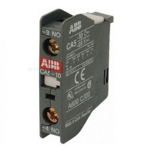 Контакт CA4-10 (1НО) фронтальный для контакторов AF09…AF96 реле NF22E…NF40E 1SBN010110R1010