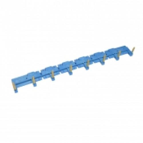 8-полюсный шинный соединитель для розеток 95.63, 95.65, 95.75, 95.83.1, 95.85.1; синий 09508