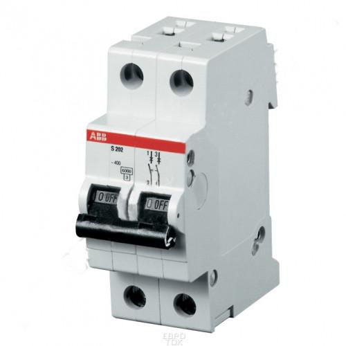 Автоматический выключатель 2-полюсной S202M B6 2CDS272001R0065