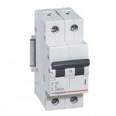 Автоматический выключатель двухполюсный RX3 4,5кА 6А 2П C