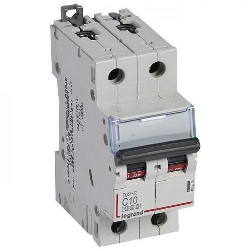 Автоматический выключатель DX3-E C10 2П 6000/6kA 407275