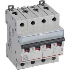Автоматический выключатель DX3-E C10 4П 6000/6kA