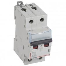 Автоматический выключатель DX3-E C25 2П 6000/6kA