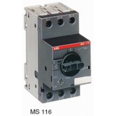 Автоматический выключатель MS116-0.63 50 кА с регулир. тепловой защитой 0,40A-0,63А Класс тепл. расцепит. 10
