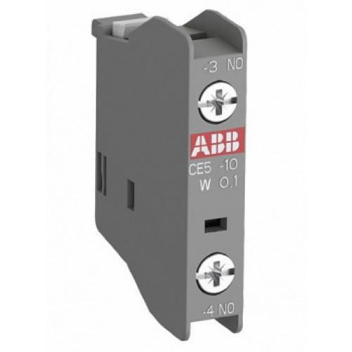 Блок контактный дополнительный CA5X-10 (1НО) фронтальный для контакторов AX09…AX80 1SBN019010R1010