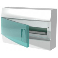 Бокс настенный Mistral41 18М зеленая дверь(без клемм)