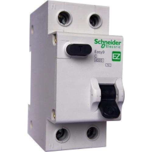 Дифференциальный автоматический выключатель EASY 9 1П+Н 32А 30мА C AC 4,5кА 230В =S= EZ9D34632