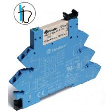 Интерфейсный модуль, электромеханическое реле; 1CO 6A;  питание 12В DC (чувствит.);  безвинтовые клеммы (пружинный зажим)