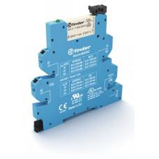 Интерфейсный модуль, электромеханическое реле, серия MasterBASIC; 1CO 6A; питание 24В AC/DC;  безвинтовые клеммы Push-in