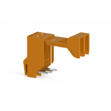 Клеммник 2-х полюсный для трансформатора, винт.зажим, 10 мм.кв., (оранжевый); TRV 10
