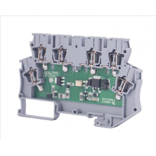 Клеммник 2-х ярусный с электронными компонентами (пустой); WG-EKI 110390