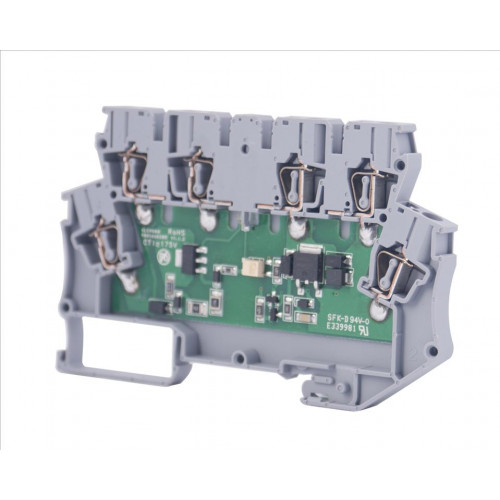 Клеммник 2-х ярусный с электронными компонентами (схема 5); WG-EKI 110050
