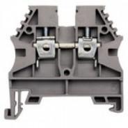 Клеммник на DIN-рейку 4мм.кв. (серый); AVK4