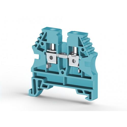 Клеммник на DIN-рейку 4мм.кв. (синий); AVK4 304131