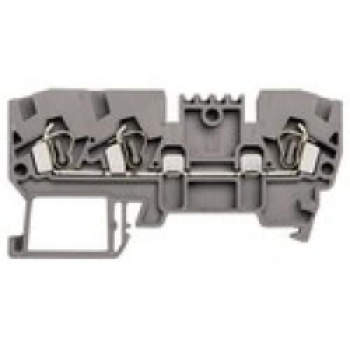 Клеммник пружинный 3-х выводной, 2,5 мм.кв., (серый); YBK 2,5E 326059