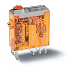 Миниатюрное промышленное электромеханическое реле;  2СO 8A;  катушка 110B АC;опции: кнопка тест + мех.индикатор