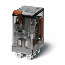 Миниатюрное силовое электромеханическое реле; 2CO 12A;  катушка 220В DC;  опции: мех.индикатор