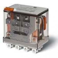 Миниатюрное силовое электромеханическое реле; 4CO 12A;  катушка 220В DC;опции: кнопка тест + мех.индикатор