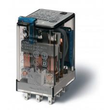 Миниатюрное универсальное электромеханическое реле;  3CO 10A;  катушка 220В DC;опции: кнопка тест