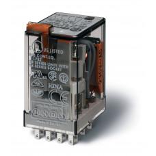 Миниатюрное универсальное электромеханическое реле;  4CO 7A;  катушка 220B DC;