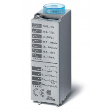 Миниатюрный мультифункциональный таймер (AI, DI, SW, GI);  питание 125В АС/DC; 3CO 10A; регулировка времени 0.05с…100ч;