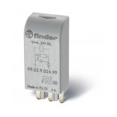 Модуль индикации и защиты с функцией ограничения напряжения срабатывания и отпускания катушек реле (Umin=0,6Un); для реле с питанием 220В DC