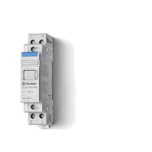 Модульный контактор; 2NO 20А;  катушка 12В DС; 222290124000