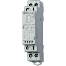 Модульный контактор; 2NO 25А; катушка 120В АС/DC;  опции: переключатель Авто-Вкл-Выкл + мех.индикатор + LED