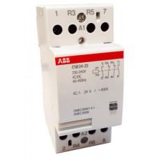 Модульный контактор ESB-24-22 (24А AC1) катушка 24B AC/DC