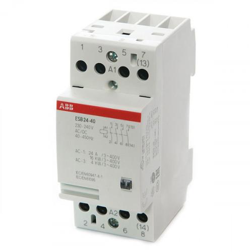 Модульный контактор ESB-24-40 (24А AC1) катушка 24B AC/DC GHE3291102R0001