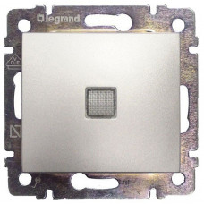 Переключатель Legrand Valena 2напр с подсветкой (алюминий)   770126