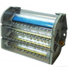 Распределительный блок на DIN-рейку РБ-160 4П 160А (4 шины 2x9+2x8+7x7+1x12) TDM SQ0823-0007