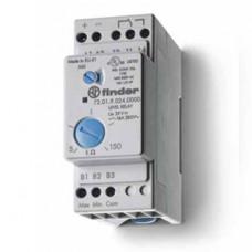 Реле контроля уровня; настраиваемый диапазон чувствительности 5…150кОм; питание 125В AC; выход 1CO 16А; модульное,