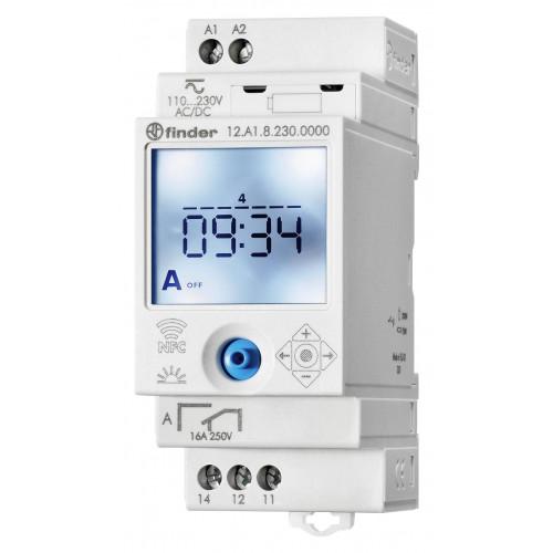 Реле времени цифровое недельное ASTRO; монтаж на рейку 35мм; 1СO 16A; питание 110…230B AC/DC; NFC; 12A182300000