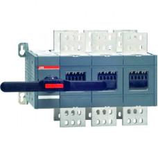 Реверсивный рубильник OT2000E03C 2000А 3х-полюсный (без ручки управления и переходника)