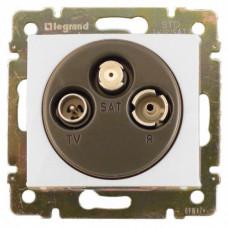 Розетка TV-RD-SAT Legrand Valena  проходная 14Дб 2400МГц (белая)    774437