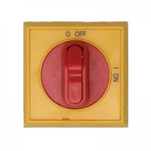 Ручка управления OHYS2RJE-RUH (желто-красная) с символами на русском для рубильников дверного монтажа ОТ16..125FТ 1SCA108275R1001
