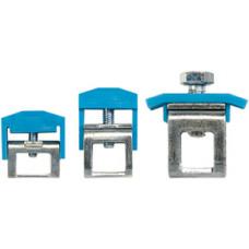 Шинный зажим для шин 10х3мм, 16-35 мм.кв., (синий); IBK35