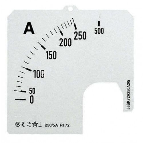 Шкала для амперметра SCL 1A5/100 2CSM120189R1041