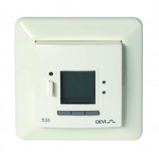 Терморегулятор Devireg D535 скрытого монтажа, белый (с датчиком пола и воздуха)    140F1050