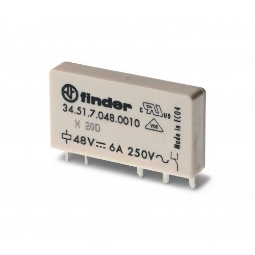 Ультратонкое электромеханическое реле;  1CO 6A;  катушка 60В DC (чувствит.); 345170605010