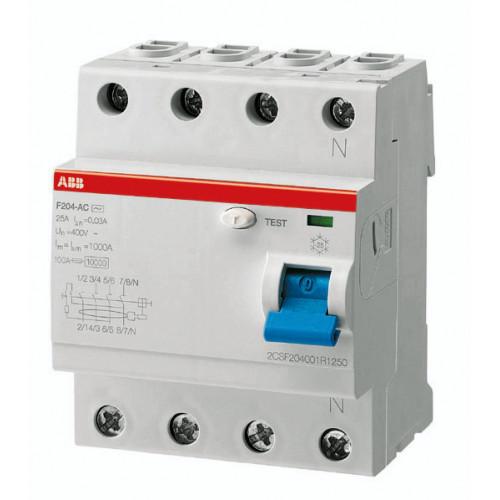 Выключатель дифференциального тока 4мод. F204 A-40/0,3 2CSF204101R3400