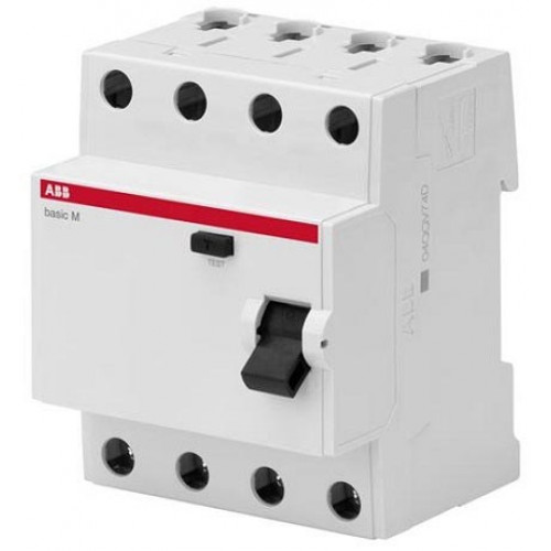 Выключатель дифференциального тока 4P, 25A, 100мA, AC, BMF42425 2CSF604042R2250
