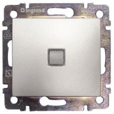 Выключатель Legrand Valena с подсветкой (алюминий)   770110